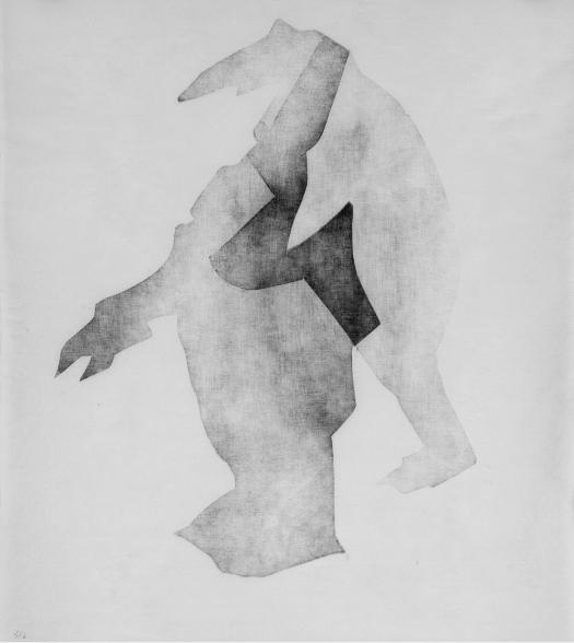 Plato I, 38x43cm, woodcut on japanese kozo-paper