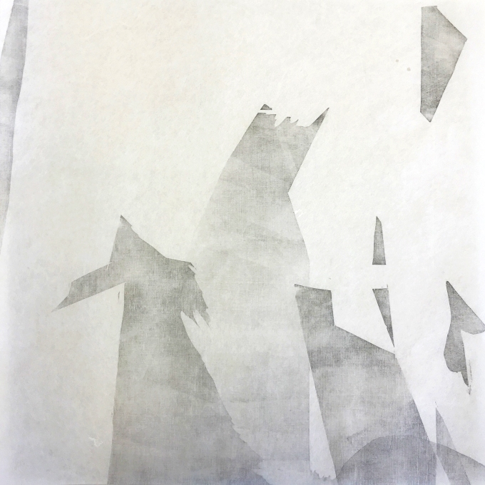 from the series Twilight, 30x30 cm, woodcut on japanese kozo-paper